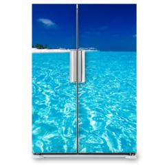 Naklejka na lodówkę - Ocean View of paradise island
