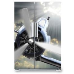 Naklejka na lodówkę - The Fighter. Retro technology theme.