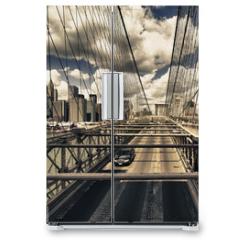 Naklejka na lodówkę - Brooklyn Bridge view, New York City