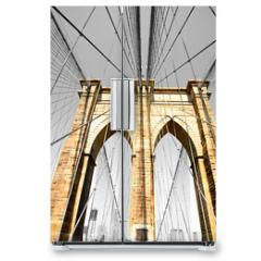 Naklejka na lodówkę - The Brooklyn bridge, New York City. USA.