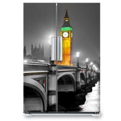 Naklejka na lodówkę - The Big Ben, London, UK