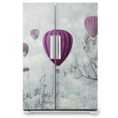 Naklejka na lodówkę - Pink Balloons