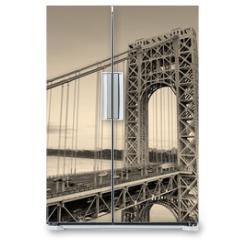 Naklejka na lodówkę - George Washington Bridge black and white