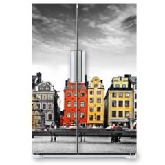Naklejka na lodówkę - Stockholm, heart of old town,