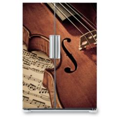 Naklejka na lodówkę - Geige mit Notenblatt