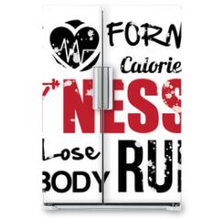 Naklejka na lodówkę - fitness