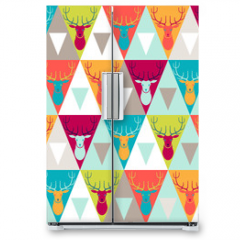Naklejka na lodówkę - Hipster style seamless pattern.