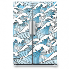 Naklejka na lodówkę - texture of sea waves