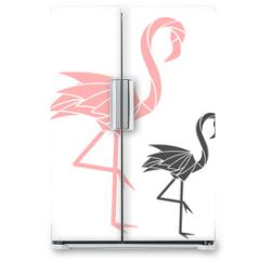 Naklejka na lodówkę - Flamingo