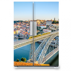 Naklejka na lodówkę - Porto with the Dom Luiz bridge, Portugal