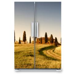 Naklejka na lodówkę - Campo di Grano e Cipressi, Toscana
