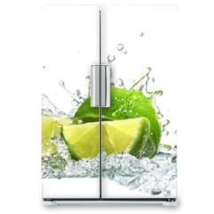 Naklejka na lodówkę - lime and water