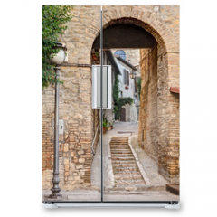 Naklejka na lodówkę - ancient alley in Bevagna, Italy