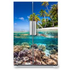 Naklejka na lodówkę - Tropical island