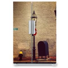 Naklejka na lodówkę - New england in Boston City