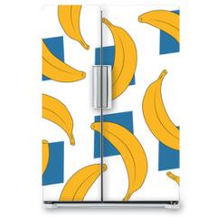 Naklejka na lodówkę - banana pattern