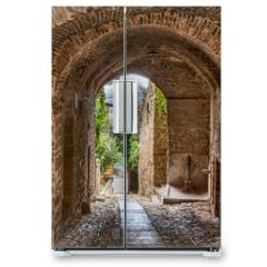 Naklejka na lodówkę - antique Italian alley