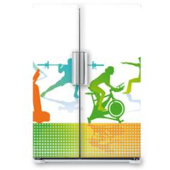 Naklejka na lodówkę - Fitness und Sport