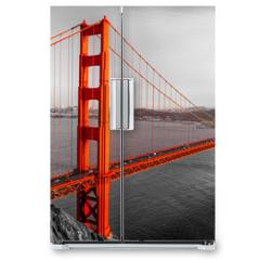 Naklejka na lodówkę - Golden Gate, San Francisco, California, USA.