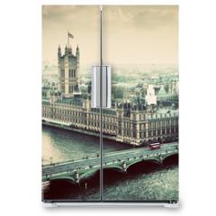 Naklejka na lodówkę - London, the UK. Big Ben, the Palace of Westminster. Vintage