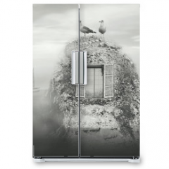 Naklejka na lodówkę - Nordic fantasy landscape