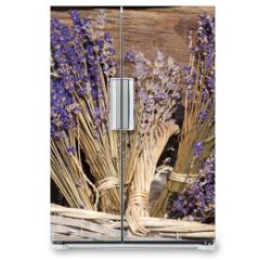 Naklejka na lodówkę - Sommerernte - Lavendel getrocknet im Korb