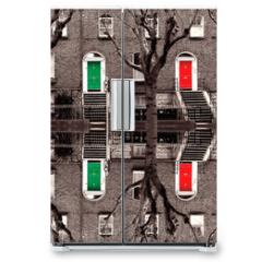 Naklejka na lodówkę - doors