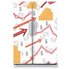 Naklejka na lodówkę - Business diagram. Seamless vector wallpaper
