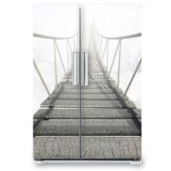 Naklejka na lodówkę - Rope Bridge Above The Clouds