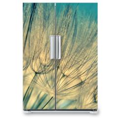 Naklejka na lodówkę - Blue abstract dandelion flower background