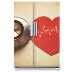 Naklejka na lodówkę - heart and stethoscope