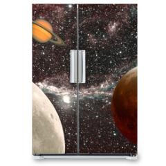 Naklejka na lodówkę - leçon d'astronomie, les planètes