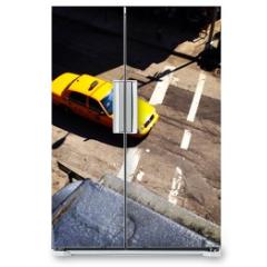 Naklejka na lodówkę - Yellow Cab
