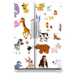 Naklejka na lodówkę - big animal set for you design