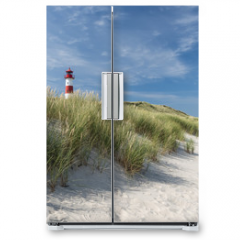 Naklejka na lodówkę - Lighthouse on dune horizontal