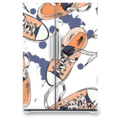 Naklejka na lodówkę - Gumshoes seamless pattern