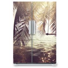 Naklejka na lodówkę - Tropical beach
