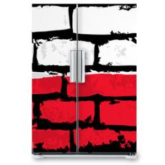 Naklejka na lodówkę - mur flaga polska wektor