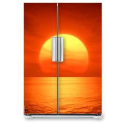 Naklejka na lodówkę - red sunset
