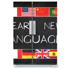 Naklejka na lodówkę - Learn new languages