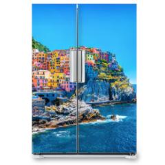 Naklejka na lodówkę - Beautiful colorful cityscape