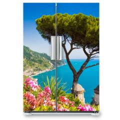 Naklejka na lodówkę - Postcard view of Amalfi Coast, Ravello, Campania, Italy