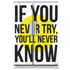 Naklejka na lodówkę - inspiration motivation poster. Grunge