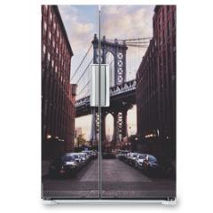Naklejka na lodówkę - Manhattan bridge