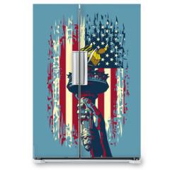 Naklejka na lodówkę - Flame of Liberty