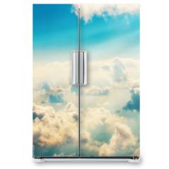 Naklejka na lodówkę - Blue clouds and sky
