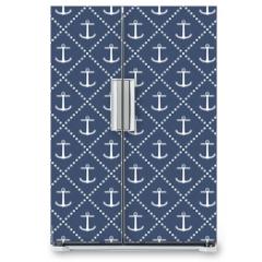 Naklejka na lodówkę - Anchor seamless pattern
