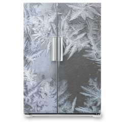 Naklejka na lodówkę - pattern on frozen window