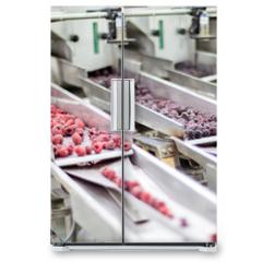 Naklejka na lodówkę - frozen raspberry processing business