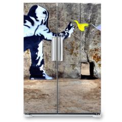 Naklejka na lodówkę - Graffiti liberté